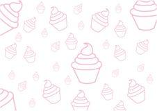 Draw cupcakes Royalty Free Stock Photos