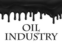 Vector poster for oil and gas industry Royalty Free Stock Images