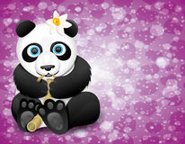 Vector poster. Panda. Royalty Free Stock Photo