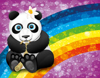 Vector poster. Panda. Stock Photo