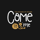 Vector poster with phrase decor elements royalty free illustration