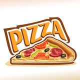Vector poster for Pizza Royalty Free Stock Photography