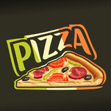 Vector poster for Pizza Royalty Free Stock Photo