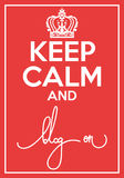 Vector poster with quote keep calm and blog on Royalty Free Stock Photos