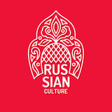 Vector poster of Russian culture. Isolated images of objects of national identity. Stock Image