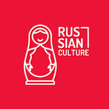 Vector poster of Russian culture. Isolated images of objects of national identity. Royalty Free Stock Photos