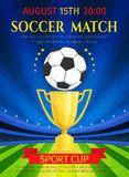 Vector poster for soccer match championship Royalty Free Stock Photos