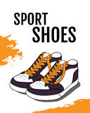 Vector poster of sport shoes Royalty Free Stock Image