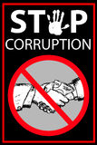 Vector Poster Stop Corruption Royalty Free Stock Photos