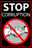 Vector poster Stop Corruption Royalty Free Stock Photo