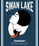 Vector poster `Swan lake` stock illustration