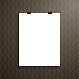 Vector poster template of a paper sheet Royalty Free Stock Photography