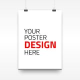 Vector poster template of a paper sheet Royalty Free Stock Photo