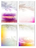 Vector Poster Templates with Watercolor Paint Splash Royalty Free Stock Images