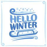 Vector poster for Winter Royalty Free Stock Images