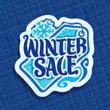 Vector poster for Winter sale Stock Images