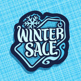 Vector poster for Winter sale Royalty Free Stock Photos