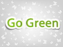 Vector poster with the words go green Stock Photography