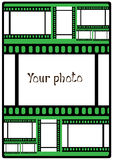 Vector poster your photo on green Stock Photography