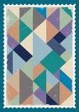 Vector postzegel Stock Foto