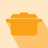Vector Pot Icon Royalty Free Stock Photo