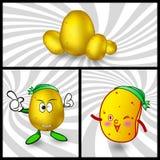 Vector potato cartoon. Gold potatoes and potato chips cartoon, Mascot for the company Stock Photos