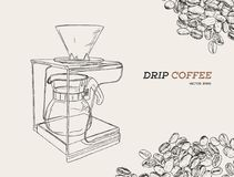 Vector Pour Over coffeemaker illustration Stock Photo