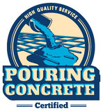Vector pouring concrete logo Stock Photography