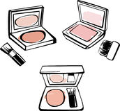 Vector powder blush Royalty Free Stock Images