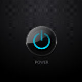 Vector power button Royalty Free Stock Photos