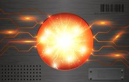 Vector power energy atomic reactor background Stock Image