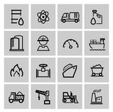 Vector power and energy icons Royalty Free Stock Photos