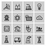 Vector power and energy icons Royalty Free Stock Image