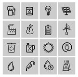 Vector power and energy icons Stock Photography