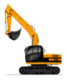 Vector power-shovel for construction isolated Royalty Free Stock Photos