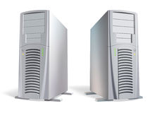 Vector. Powerful presentable computer system units Stock Photo