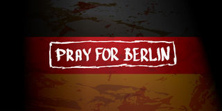 Vector Pray for Berlin concept . Royalty Free Stock Photo