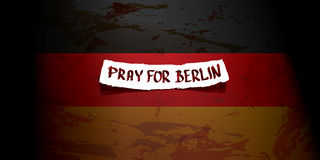 Vector Pray for Berlin concept . Stock Photos