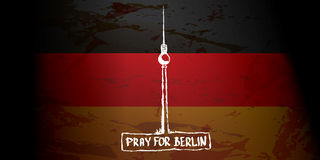 Vector Pray for Berlin concept . Royalty Free Stock Images