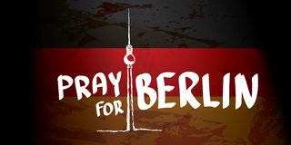 Vector Pray for Berlin concept . Royalty Free Stock Photography