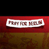 Vector Pray for Berlin concept . Stock Images