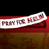 Vector Pray for Berlin concept . Stock Photography