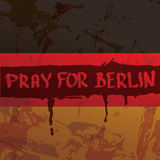 Vector Pray for Berlin concept . Stock Image