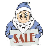 Vector pre-holiday sale from Santa Royalty Free Stock Photos