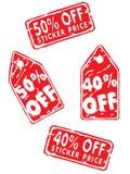 Vector: Precio de la venta foto de archivo libre de regalías