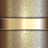 Vector precious metal golden plate on stone Royalty Free Stock Photo