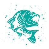 Vector Predatory pike. Iimage of fish. Stock Images