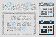 Vector preferido Mesh Network Model de los días e icono del mosaico del triángulo ilustración del vector