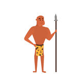 Vector prehistoric man. Caveman cartoon illustration Royalty Free Stock Photography