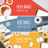 Vector premade headers Stock Image